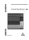 Behringer XENYX 2442FX DJ Equipment Manual (5 pages)