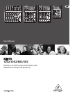 Behringer Xenyx 502 DJ Equipment Manual (14 pages)