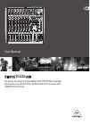 Behringer XENYX X1222 USB DJ Equipment Manual (16 pages)
