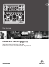 Behringer B-Control Deejay BCD3000 DJ Equipment Manual (17 pages)