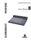 Behringer EURODESK MX9000 User´s DJ Equipment Manual (57 pages)