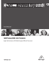 Behringer VIRTUALIZER 3D FX2000 DJ Equipment Manual (28 pages)