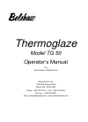 Belshaw Brothers TG 50 Microwave Oven Manual (64 pages)