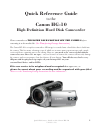 Canon HG10 Digital Camera Manual (20 pages)