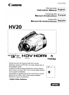 Canon HV20 Digital Camera Manual (114 pages)