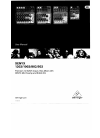 Behringer Xenyx 502 DJ Equipment Manual (12 pages)