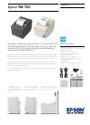 Epson TM-T20 Datasheet