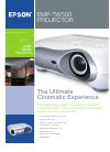 Epson EMP-TW500 Printer Manual (2 pages)