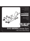Evo EVO SIERRA 53552 Home Gym Manual (20 pages)
