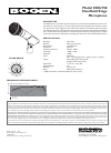 Bogen HDU150 Microphone Manual (1 pages)