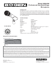 Bogen HDU250 Microphone Manual (1 pages)