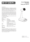 Bogen MBS1000A Microphone Manual (2 pages)
