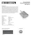 Bogen SCU250 Microphone Manual (2 pages)