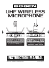 Bogen UDMS800BP Microphone Manual (20 pages)