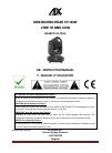 afx light BEAM1R DJ Equipment Manual (23 pages)