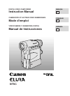 Canon 40MC - Elura MiniDV Digital Camcorder Digital Camera Manual (117 pages)