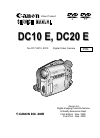 Canon DC20 E Digital Camera Manual (206 pages)