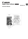 Canon HV20 Digital Camera Manual (94 pages)