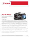 Canon HV30 Digital Camera Manual (24 pages)