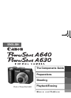 Canon POWERSHOT A630 Digital Camera Manual (36 pages)