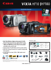 Canon VIXIA HF100 Digital Camera Manual (2 pages)
