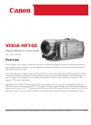 Canon VIXIA HF100 Digital Camera Manual (23 pages)