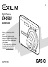 Casio EX S600 - EXILIM CARD Digital Camera Digital Camera Manual (245 pages)