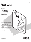 Casio EX Z1000 - EXILIM ZOOM Digital Camera Digital Camera Manual (266 pages)