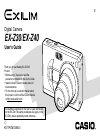 Casio EX-Z30/EX-Z40 Digital Camera Manual (198 pages)