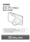 Casio EX-FC150 - EXILIM Digital Camera Digital Camera Manual (100 pages)