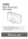 Casio Exilim EX-FH100 Digital Camera Manual (108 pages)