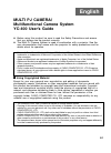 Casio YC-400 - Document Camera Digital Camera Manual (40 pages)